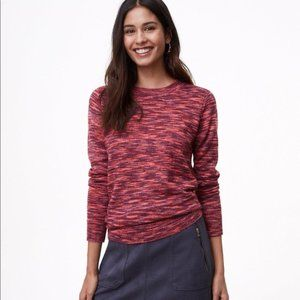 LOFT Spacedye Shirttail Sweater